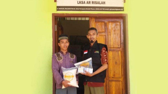 Laznas BMH Sulsel Salurkan Sembako ke LKSA Ar-Risalah Parepare