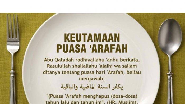 Lafadz Niat Puasa Arafah Hari Selasa, Puasa Disunahkan Sebelum Iduladha Inilah Keutamaannya