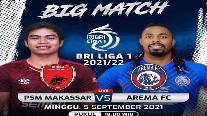 Main Imbang Lawan Arema, PSM Makassar Urutan Kesembilan Klasemen Sementara Liga 1