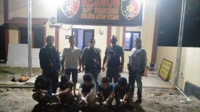 Aniaya Pelajar Asal Rompu, 5 Pemuda Baliase Luwu Utara Ditangkap Polisi
