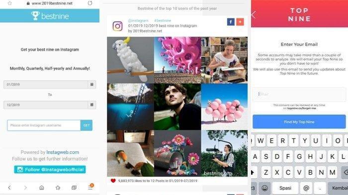 Link dan Cara Buat Best Nine 2020 Instagram, Bikin Kolase Foto Terbaikmu Sebelum Pergantian 2020