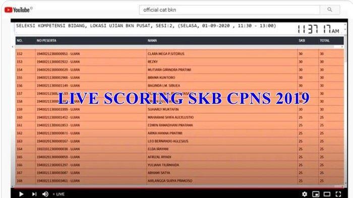 LINK Live Scoring Tes SKB CPNS 2019 di 33 Lokasi se-Indonesia, Cek Nama dan Nilai Kamu di Sini