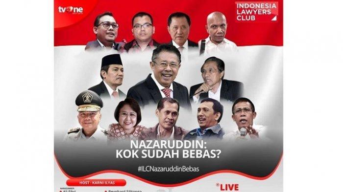Baru Saja Bebas Penjara, Koruptor Kakap Nazaruddin Diulas ILC TV One, Karni Ilyas: Kok Sudah Bebas?