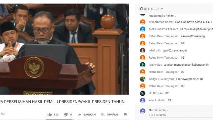 LINK Live Streaming Kompas TV Sekarang Sidang Sengketa Pilpres 2019 di MK, Nonton Lewat HP