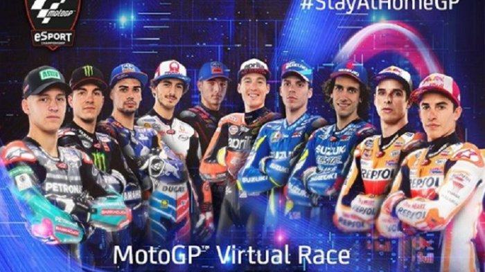 LINK Live Streaming MotoGP Virtual Pukul 20.00 WIB, Marquez vs Fabio Quartararo, Rossi Absen