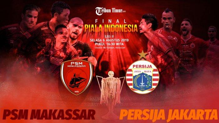 LINK Live Streaming RCTI - Siaran Langsung PSM Makassar vs Persija Jakarta Final Piala Indonesia