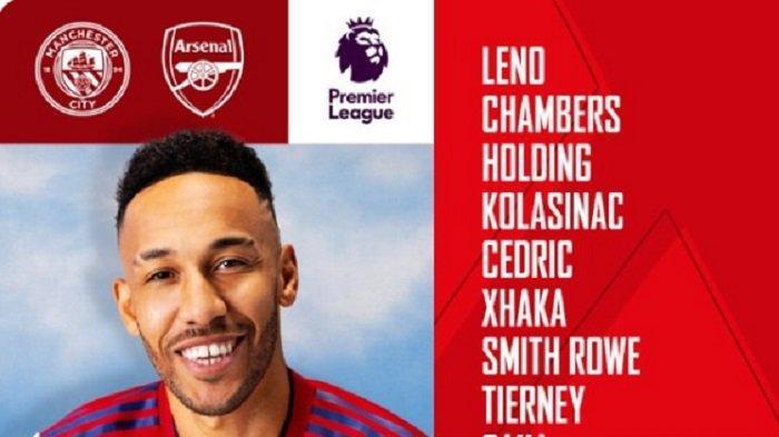 Live Streaming TV Online SCTV & Mola TV, Susunan Starting Man City vs Arsenal Liga Inggris Pekan 3