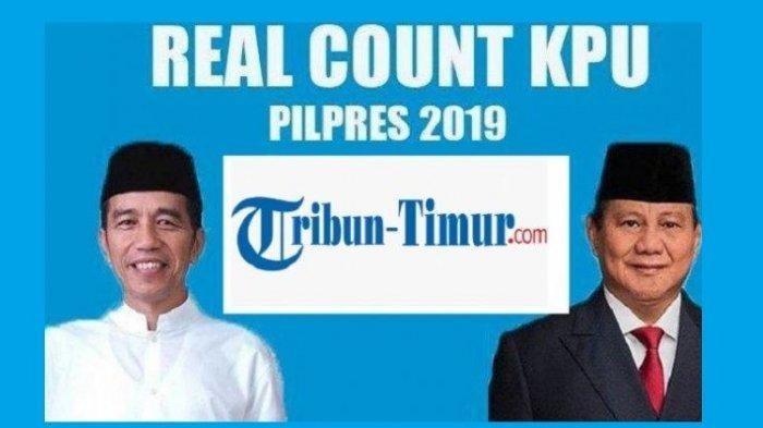 Update Real Count KPU Jokowi vs Prabowo, Pukul 13.45 WITA 9 Mei 2019, Data dari  601.139 TPS