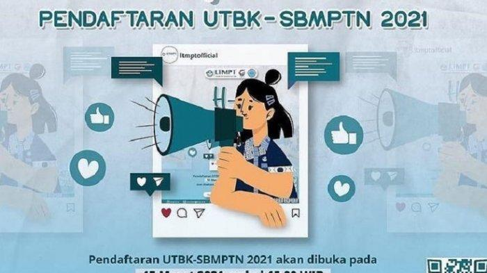 LINK Pendaftaran SBMPTN 2021 di portal.ltmpt.ac.id, Syarat & Alur Pendaftaran UTBK-SBMPTN 2021