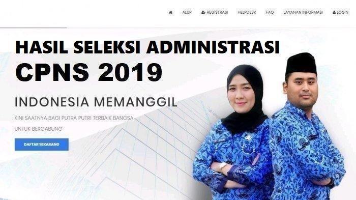 LINK Pengumuman Hasil Seleksi Administrasi CPNS 2019 KemenpanRB, Kemhan, dan Kementan, Cek di Sini!