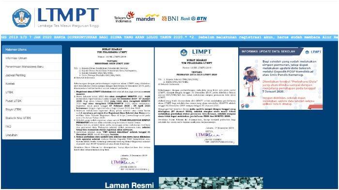 Link Portal Ltmpt Ac Id Reg Registrasi Akun Ltmpt Untuk Snmptn Utbk Sbmptn 2020 Terakhir Hari Ini Tribun Timur