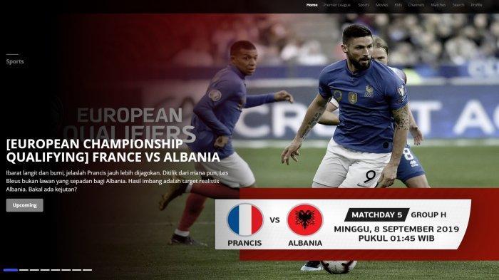2 LINK Live Mola TVLive Streaming PrancisvsAlbania, Kualifikasi Euro (Piala Eropa 2020) Gratis