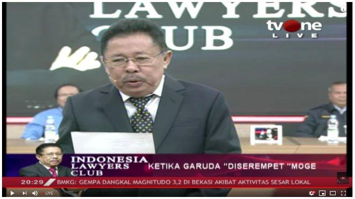 Live Streaming ILC TV One Ketika Garuda 'Diserempet' Moge Bahas Harley Davidson Dirut Ari Askhara