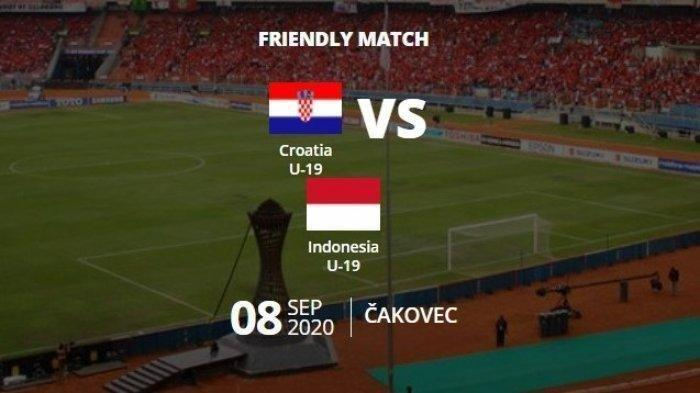 Skor 0-2, Live Streaming Mola TV NET TV Timnas U19 Indonesia Vs Kroasia, Nonton Via HP