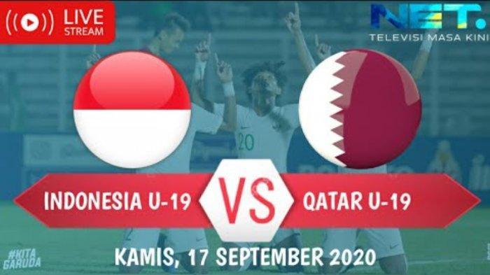 Link Live Streaming Mola TV Timnas U 19 Indonesia vs Qatar di NET TV, Susunan Pemain, Nonton di HP