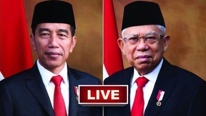 SEDANG TAYANG Live Streaming Kompas TV, MetroTV & tvOne TV Online Pelantikan Jokowi & KH Maruf Amin