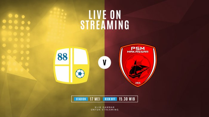 Live Streaming Barito Putra Vs PSM Makassar, Ini 3 Link Live Streaming TV One & Susunan Starter