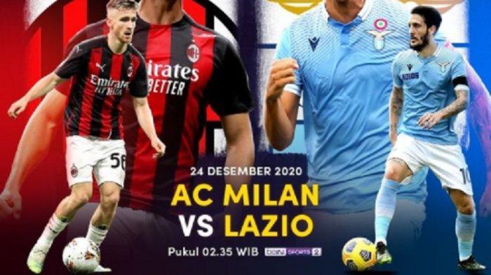 LINK Live Streaming TV Online AC Milan vs Lazio di Liga Italia, Akses Link Live RCTI Gratis di Sini