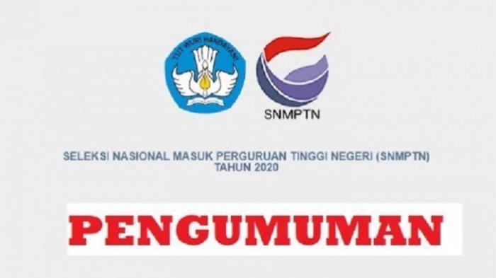 LOGIN 12 Link Alternatif untuk Cek Pengumuman SNMPTN Besok, Rabu 8 April 2020 Pukul 13.00 WIB