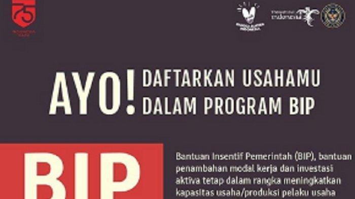Login bip.kemenparekraf.go.id dan Dapatkan Bantuan BIP Kemeparekraf Total Rp 40 Miliar untuk UMKM