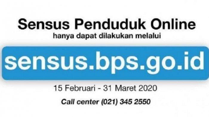 LOGIN sensus.bps.go.id Cara Isi Sensus Penduduk Online 2020 Sisa 5 Hari, NIK Harus Valid, 3 Dokumen