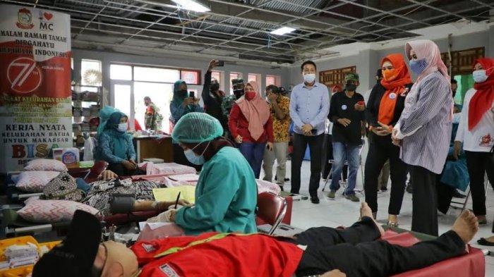 Dukung Program Makassar Recover, Lois Community dan TP PKK Gelar Donor Darah