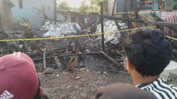 Kebakaran di Kampung Bulloe Jeneponto, Kerugian Ditaksir Rp 100 Juta