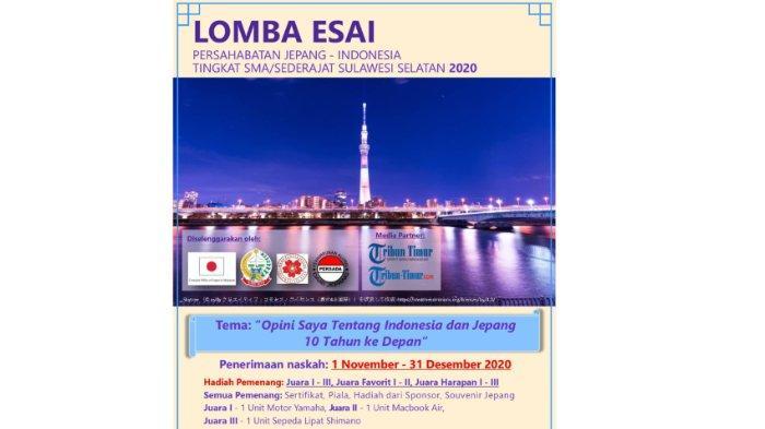 Yuk Ikutan Lomba Esai Persahabatan Jepang - Indonesia, Berhadiah Motor Yamaha, MacBook Air, Sepeda