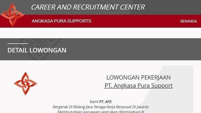Lowongan Kerja Pt Angkasa Pura Support Cari Banyak Karyawan Terima Lulusan Sma Smk Cek Syarat Tribun Timur