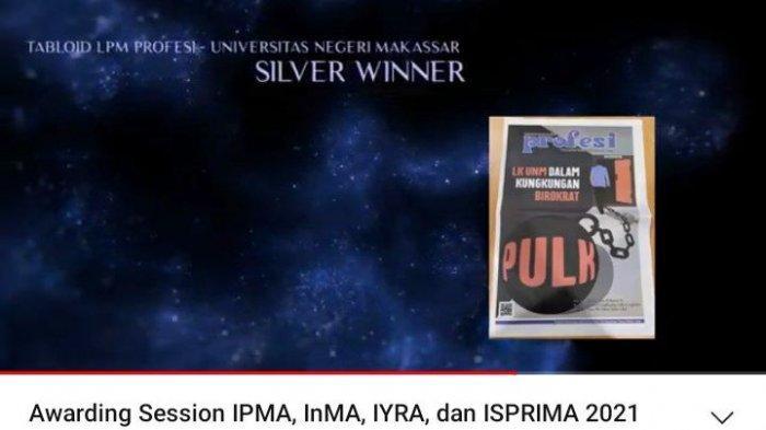 Raih Silver Winner ISPRIMA 2021, LPM Profesi UNM Target Gold Winner Tahun Depan