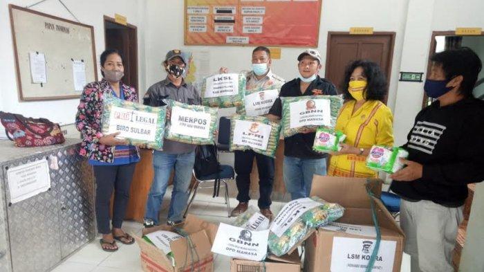 LSM dan Wartawan di Mamasa Kirim Bantuan ke Korban Gempa di Mamuju
