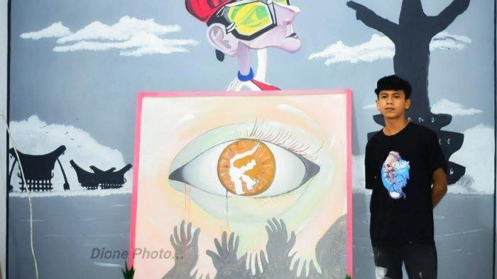 Pemuda Mengkendek Toraja Lelang Lukisan Demi Bantu Korban Gempa Sulbar