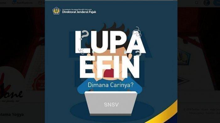 Lupa Efin Pajak Cara Mengetahui Efin Pajak 2021