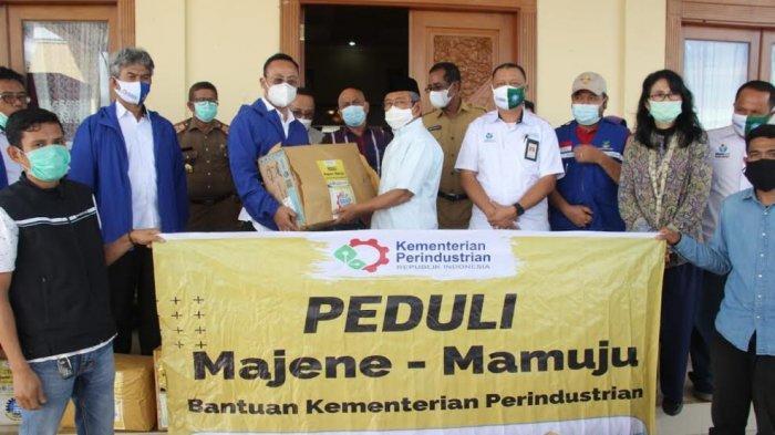 Gubernur Sulbar Terima 4 Truk Bantuan dari Kemenperin untuk Korban Gempa di Mamuju