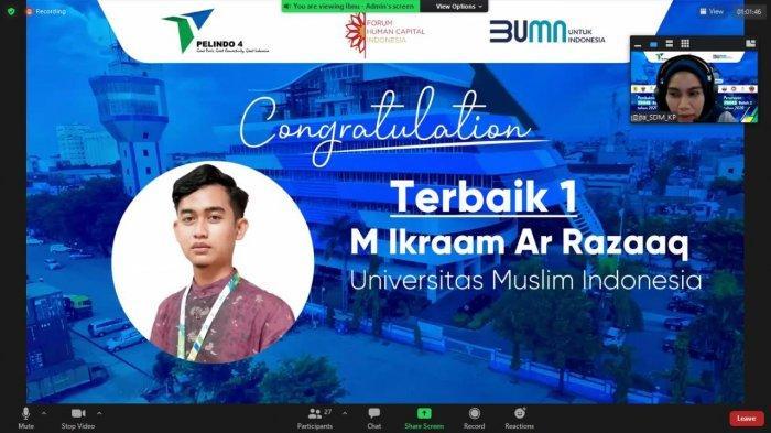 Ikraam Razaaq, Mahasiswa Fikom UMI Raih Prestasi di PMMB