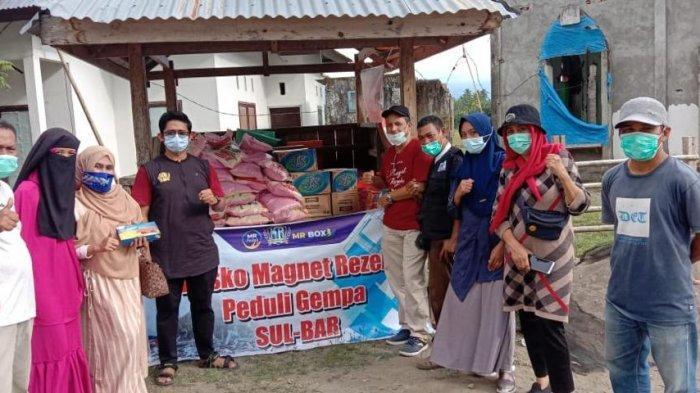 MR Peduli Salurkan Bantuan ke Korban Gempa Sulbar