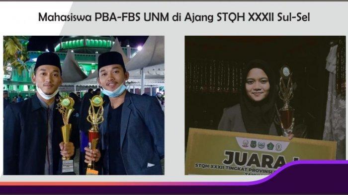Tiga Mahasiswa FBS UNM Boyong Juara STQH Tingkat Sulawesi Selatan