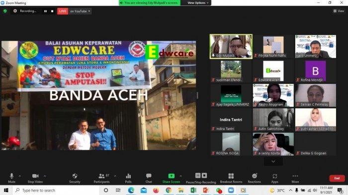 Mahasiswa Keperawatan Unimerz Kunjungan Virtual di Balai Asuhan Keperawatan EdWcare Aceh