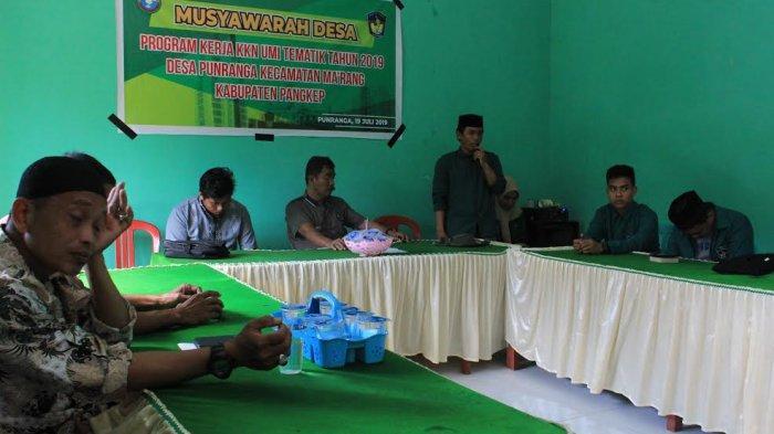 Mahasiswa KKN Tematik UMI Gelar Musyawarah Desa di Punranga Pangkep