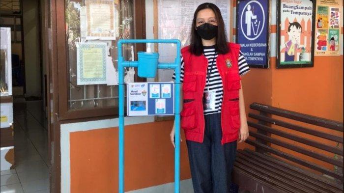 Cegah Kontak Fisik, Mahasiswa KKN Unhas Buat Inovasi Hand Sanitizer Injak