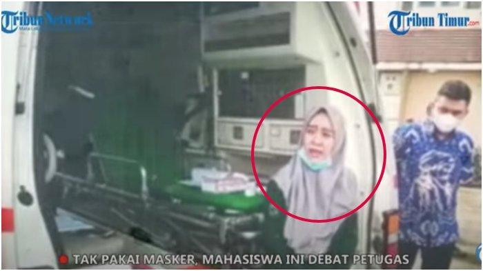 Panas! Video Detik-detik Mahasiswa Unhas Debat Lawan Petugas di Gowa karena Tak Pakai Masker