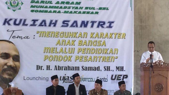 Abraham Samad: Pendidikan Pesantren Menciptakan Generasi Anti Korupsi