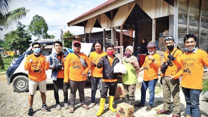 Demi Kemanusiaan, Komunitas Benelli Owner Celebes Bawa Bantuan Makanan ke Lutra