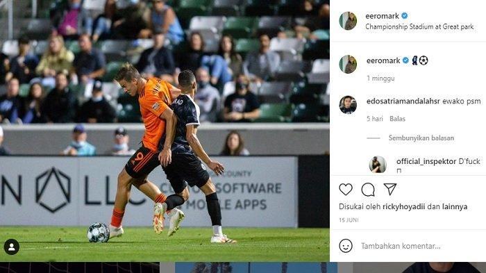 Mantan Penyerang PSM Makassar Eero Markkanen kini memperkuat klub Orange County SC