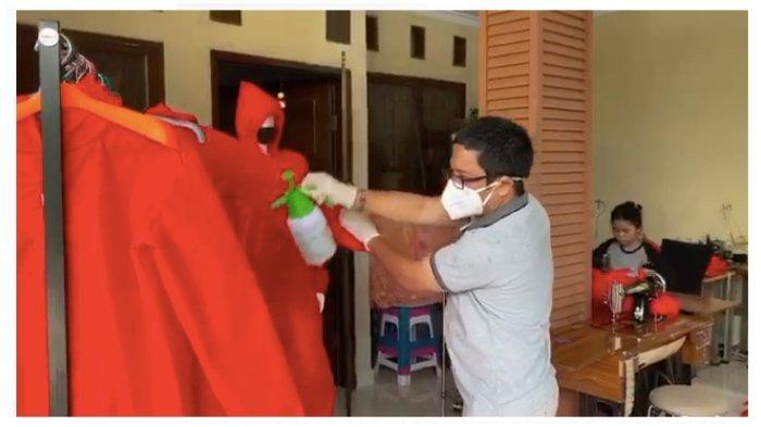 Terima Sumbangan Kain Spunbond dari Insinyur, FTI UMI Bikin 400 Mantel APD untuk Dokter di Makassar