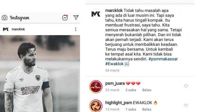12 Laga Away Tanpa Kemenangan, Klok Tulis Ini di Instagram