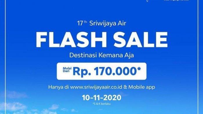 HUT ke-17, Sriwijaya Air Tawarkan Tiket Mulai Rp 170 Ribu