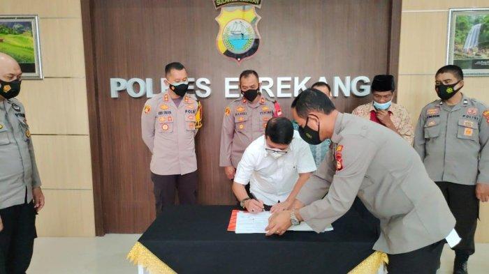 Polres Enrekang Terima Tanah Hibah dari KKB untuk Pembangunan Polsek Bungin