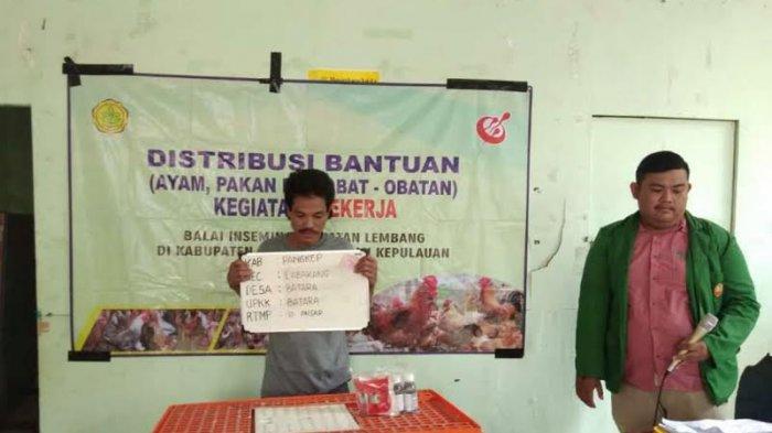 Masyarakat Desa Batara Dapat Bantuan Ayam Peternak, Pakan, dan Obat-obatan dari Kementan