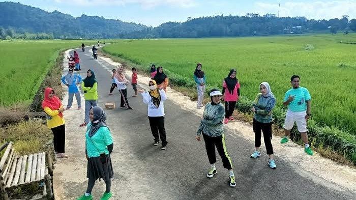 Indahnya Persawahan di Kampung Honto Sinjai, Asyik untuk Olahraga Pagi